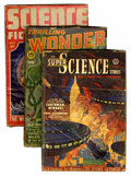 Pulps:Science Fiction, Assorted Science Fiction Pulps Box Lot (Various, 1937-55)Condition: Average GD except as noted....