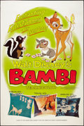 "Movie Posters:Animation, Bambi (Buena Vista, R-1966). Poster (40"" X 60""). Animation.. ..."