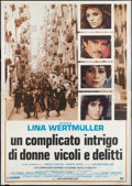 """Movie Posters:Crime, Camorra: A Story of Streets, Women and Crime (Cannon, 1986). Italian 4 - Foglio (55"""" X 78""""). Crime.. ..."""