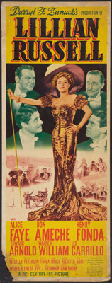"Lillian Russell (20th Century Fox, 1940). Insert (14"" X 36""). Musical"