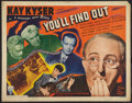"""Movie Posters:Comedy, You'll Find Out (RKO, 1940). Half Sheet (22"""" X 28"""") Style B.Comedy.. ..."""