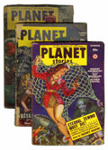 Pulps:Science Fiction, Planet Stories Group (Fiction House, 1942-54).... (Total: 3 ComicBooks)