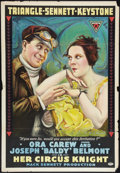 "Movie Posters:Comedy, Her Circus Knight (Triangle, 1917). One Sheet (27"" X 41""). Comedy....."