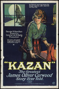 "Movie Posters:Drama, Kazan (Export & Import Film Co., 1921). One Sheet (27"" X 41"").Drama.. ..."