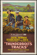 """Movie Posters:Western, Thunderbolt's Tracks (Rayart Pictures, 1927). One Sheet (27"""" X 41""""). Western.. ..."""