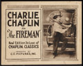 """Movie Posters:Comedy, The Fireman (C.C. Pictures, Inc., R-1920s). Title Lobby Card (11"""" X 14""""). Comedy.. ..."""