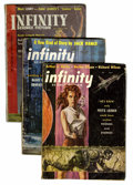 Pulps:Science Fiction, Assorted Digest Sized Science Fiction Box Lot (Various, 1953-77)Condition: Average VG/FN....