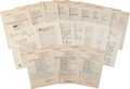 Autographs:Others, 1951-52 Major League Pitching Staff Signed Sheets & HandwrittenLetters....