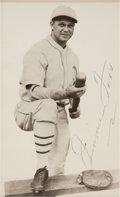 Autographs:Post Cards, 1960's Jimmie Foxx Signed Postcard. ...