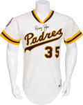 Baseball Collectibles:Uniforms, 1976 Randy Jones Cy Young Season Game Worn San Diego Padres Jersey....