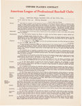 Autographs:Others, 1947 Phil Rizzuto Signed New York Yankees Contract....