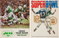 Football Collectibles:Publications, 1965 New York Jets Team Signed Yearbook and 1969 Super Bowl III Program....