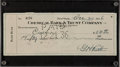 Autographs:Checks, 1936 Babe Ruth Double Signed Check....
