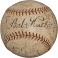 Autographs:Baseballs, 1931 New York Yankees Team Signed Baseball....