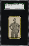 Baseball Cards:Singles (Pre-1930), 1910 T211 Red Sun LaFiitte SGC 20 Fair 1.5 - Only SGC Graded Example! ...