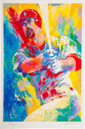Autographs:Others, 1999 Mark McGwire Artist's Proof Serigraph Signed by McGwire &LeRoy Neiman....