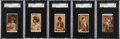 Non-Sport Cards:Sets, Rare 1880's N167 Old Judge Actresses SGC-Collection (5)....