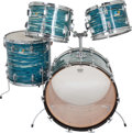 Musical Instruments:Drums & Percussion, Early 70's Ludwig Hollywood Outfit Blue Oyster Drum Set #892790...