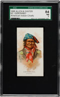 "Non-Sport Cards:Singles (Pre-1950), 1888 N2 Allen & Ginter ""American Indian Chiefs"" Geronimo SGC 84NM 7 - A Key Subject!..."