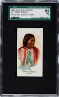 """Non-Sport Cards:Singles (Pre-1950), 1888 N2 Allen & Ginter """"American Indian Chiefs"""" Grey Eagle SGC84 NM 7 - Highest Grade Known!..."""