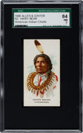 """Non-Sport Cards:Singles (Pre-1950), 1888 N2 Allen & Ginter """"American Indian Chiefs"""" Hairy Bear SGC84 NM 7- Highest Grade Known!..."""
