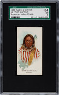 "Non-Sport Cards:Singles (Pre-1950), 1888 N2 Allen & Ginter ""American Indian Chiefs"" War Captain SGC84 NM 7 - The Finest Known!..."