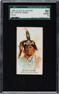 "Non-Sport Cards:Singles (Pre-1950), 1888 N2 Allen & Ginter ""American Indian Chiefs"" White Swan,Error SGC 50 VG/EX 4 - A Very Rare Error!..."