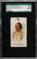 "Non-Sport Cards:Singles (Pre-1950), 1888 N2 Allen & Ginter ""American Indian Chiefs"" Agate ArrowPoint, Error SGC 10 Poor 1 - One of Two Graded by SGC! ..."