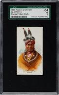 "Non-Sport Cards:Singles (Pre-1950), 1888 N2 Allen & Ginter ""American Indian Chiefs"" Arkikita SGC 84NM 7 - Only One Higher!..."