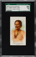 "Non-Sport Cards:Singles (Pre-1950), 1888 N2 Allen & Ginter ""American Indian Chiefs"" Great War ChiefSGC 84 NM 7 - Only One Higher!..."