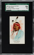 "Non-Sport Cards:Singles (Pre-1950), 1888 N2 Allen & Ginter ""American Indian Chiefs"" Red Bird SGC 84NM 7 - Only One Higher!..."
