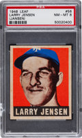 Baseball Cards:Singles (1940-1949), 1948 Leaf Larry Jensen #56 PSA NM-MT 8....
