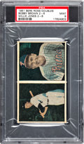 Baseball Cards:Singles (1950-1959), 1951 Berk Ross Doubles Bobby Brown 2-6/Willie Brown 2-8 PSA Mint 9- Pop 1!...
