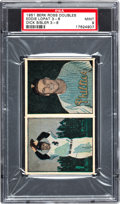 Baseball Cards:Singles (1950-1959), 1951 Berk Ross Doubles Eddie Lopat 3-6/Dick Sisler 3-8 PSA Mint 9 -Pop 1. ...