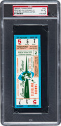 Football Collectibles:Tickets, 1965 NFL Championship Game Packers vs. Browns Full Ticket, PSAEX-MT 6 - None Graded Higher! ...