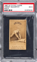 Baseball Cards:Singles (Pre-1930), 1887 N172 Old Judge Tommy McCarthy, Tagging Player PSA EX 5....