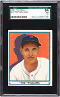 Baseball Cards:Singles (1940-1949), 1941 Play Ball Ted Williams #14 SGC 84 NM 7....