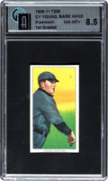 Baseball Cards:Singles (Pre-1930), 1909-11 T206 Piedmont Cy Young, Bare Hand Shows GAI NM-MT+ 8.5. ...