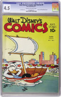 Golden Age (1938-1955):Cartoon Character, Walt Disney's Comics and Stories #9 (Dell, 1941) CGC VG+ 4.5 Creamto off-white pages....