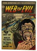 "Golden Age (1938-1955):Horror, Web of Evil #2 Davis Crippen (""D"" Copy) pedigree (Quality, 1952)Condition: FN/VF...."