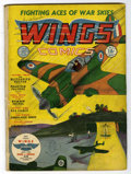 Golden Age (1938-1955):War, Wings Comics #1 (Fiction House, 1940) Condition: GD-....