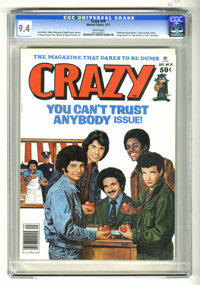 """Crazy Magazine #29 (Marvel, 1977) CGC NM 9.4 White pages. """"Welcome Back Kotter"""" cover by Bob Larkin. """"Gon..."""