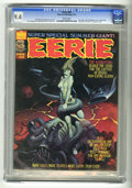 Magazines:Horror, Eerie #60 (Warren, 1974) CGC NM 9.4 White pages. First appearance of Exterminator One. Ken Kelly and Bernie Wrightson cover ...
