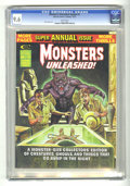 Bronze Age (1970-1979):Horror, Monsters Unleashed Annual #1 (Marvel, 1975) CGC NM+ 9.6 Whitepages. Ken Bald cover. Gil Kane art. Overstreet 2004 NM- 9.2 v...