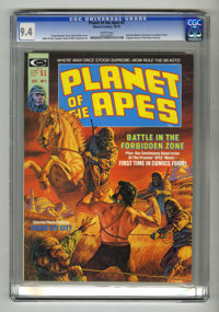 Planet of the Apes #2 (Marvel, 1974) CGC NM 9.4 White pages. Bob Larkin cover art. Mike Ploog and George Tuska art. Over...