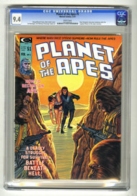 Planet of the Apes #5 (Marvel, 1975) CGC NM 9.4 White pages. Bob Larkin cover. Ed Hannigan, Jim Mooney, and George Tuska...