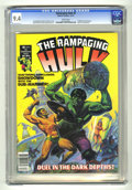 Magazines:Superhero, The Rampaging Hulk #6 (Marvel, 1977) CGC NM 9.4 White pages. ...