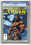 Magazines:Miscellaneous, Savage Sword of Conan #143 (Marvel, 1987) CGC NM+ 9.6 White pages.Joe Jusko cover. Val Mayerik art. Overstreet 2004 NM- 9.2...