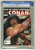 Magazines:Superhero, Savage Sword of Conan #169 (Marvel, 1990) CGC NM+ 9.6 White pages....