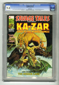 Magazines:Superhero, Savage Tales #9 (Marvel, 1975) CGC NM 9.4 White pages. Shanna theShe-Devil appearance. Mike Kaluta cover art. Mike Zeck fro...